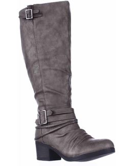 Candace Wide Calf Western Riding Boots