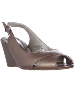 Belsina Peep Toe Wedge Slingback Dress Pumps