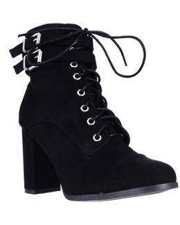 Klaim Lace Up Combat Ankle Boots
