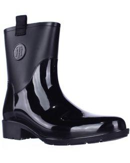 Khristie Pull On Tab Ankle Rain Boots