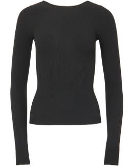 Seamless Ribbed Corset Waisted Pullover
