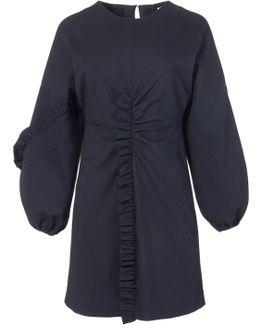 Bond Stretch Knit Ruffle Mini Dress