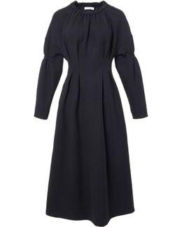 Sculpted Knit Shirred Dress