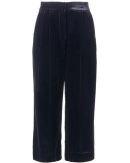 Silk Velvet Stella Wide Leg Culottes