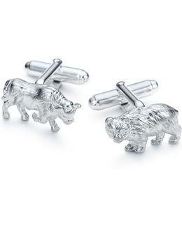 Bull And Bear Cuff Links