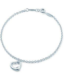 Elsa Peretti. Open Heart Bracelet In Sterling Silver, One Size