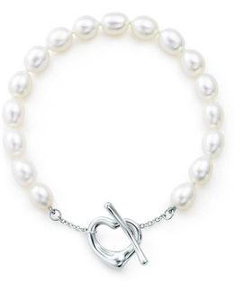 Open Heart Pearl Bracelet