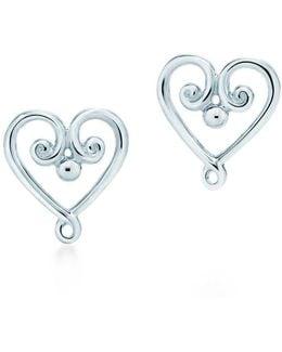 Goldoni Heart Earrings