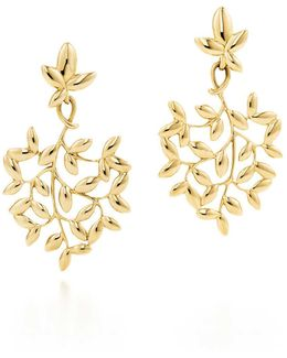 Paloma Picasso. Olive Leaf Drop Earrings In 18k Gold, Small