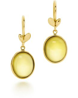 Olive Leaf Drop Earrings