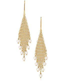 Mesh Fringe Earrings