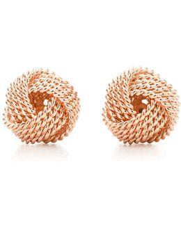 Knot Earrings In 18k Rose Gold