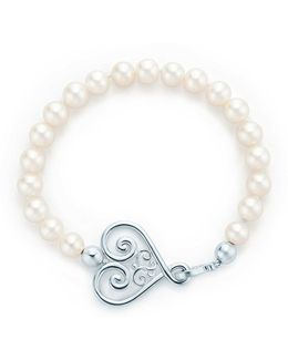 Goldoni Heart Pearl Bracelet