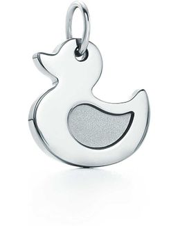Lucky Ducky Charm In Sterling Silver