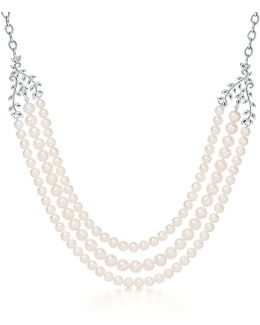 Olive Leaf Three-row Necklace