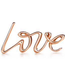 Love Single Earring In 18k Rose Gold