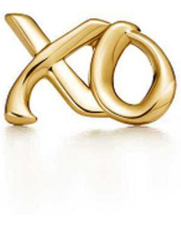 Love & Kisses Single Earring In 18k Gold