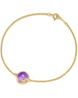 Paloma Picasso. Olive Leaf Bracelet In 18k Gold With An Amethyst, Medium -