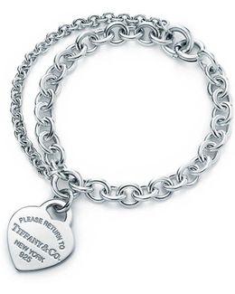 Double Chain Heart Tag Bracelet
