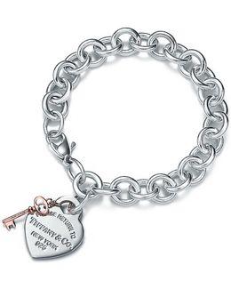 Heart Tag Key Bracelet