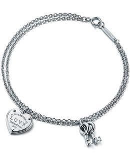 Love Heart Tag Key Bracelet