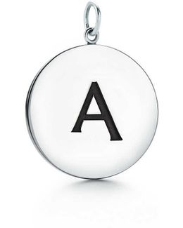 Alphabet Charm In Sterling Silver Letters A-z Available - C