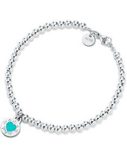 Round Heart Charm Bracelet
