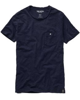 Classic Pocket T-shirt In Navy