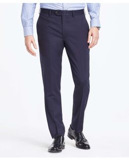 Sutton Suit Pant In Navy Wool Gabardine