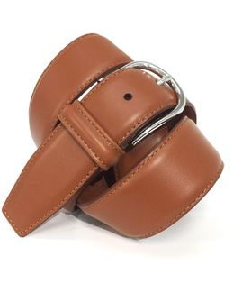 Leather Belt In Tan