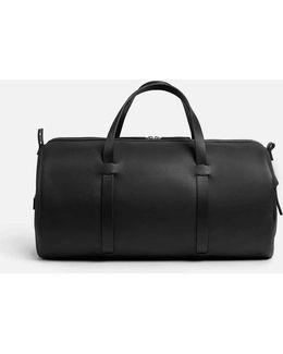Italian Leather Duffle In Black