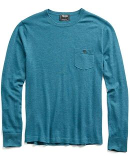 Cashmere T-shirt Sweater In Turquoise