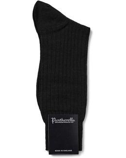 Laburnum Merino Wool Socks In Black