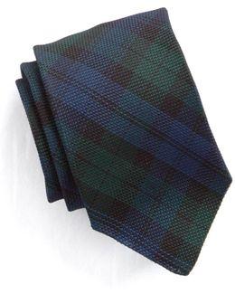 Handrolled Woven Grenadine Blackwatch Tie