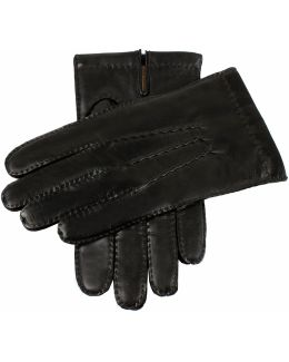 Dents Shaftesbury Black Leather Touch Tech Gloves