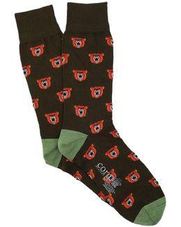 Lightweight Angry Bear Socks
