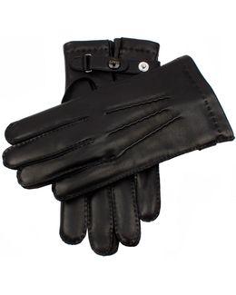 Dents Hatfield Black Leather Gloves