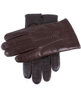 Dents Shafetesbury Brown Leather Touch Tech Gloves