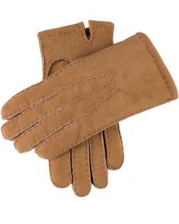 Dents York Shearling Gloves In Camel