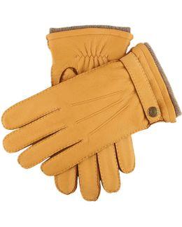 Dents Gloucester Cashmere Lined Deerskin Gloves In Tan