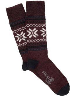 Fairsle Sock In Purple