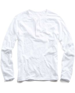 Vintage Washed Henley In White