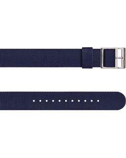 Watch Strap In Navy Nylon