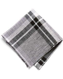 Pocket Square In Carbon Plaid