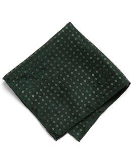 Pocket Square In Olive Floral