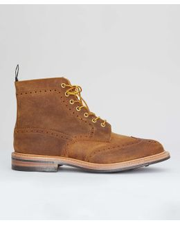 Limited Edition Leather Brogue Boot