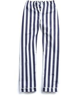 Marcel Pajama Pant In Navy Tent Stripe