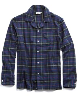 Henry Pajama Shirt In Flannel Plaid