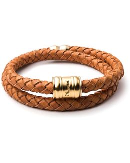 Brass Leather Casing Bracelet
