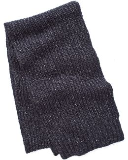 Ribbed Knit Scarf In Navy
